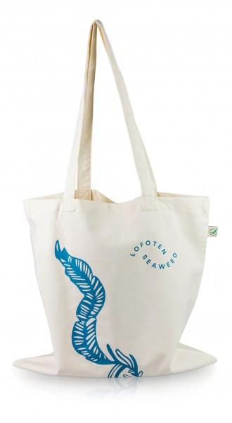 Lofoten Seaweed Tragtasche aus Baumwolle mit Print